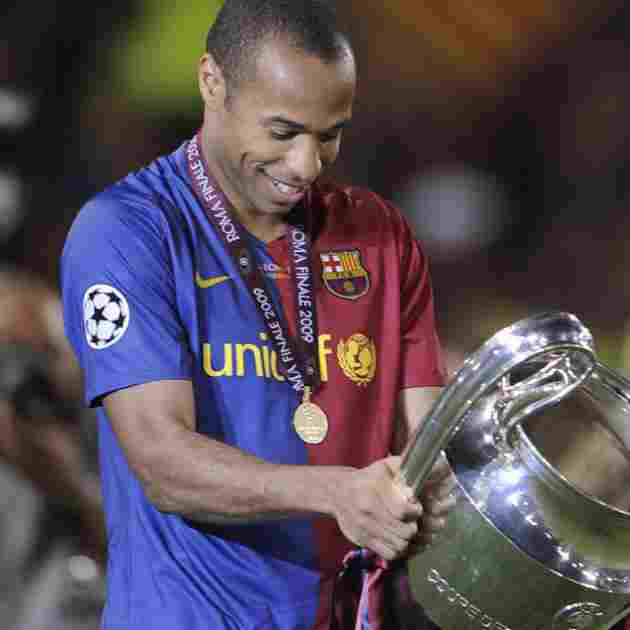 Thierry Henry with Champions League in 2009 with Barcelona - Znebs