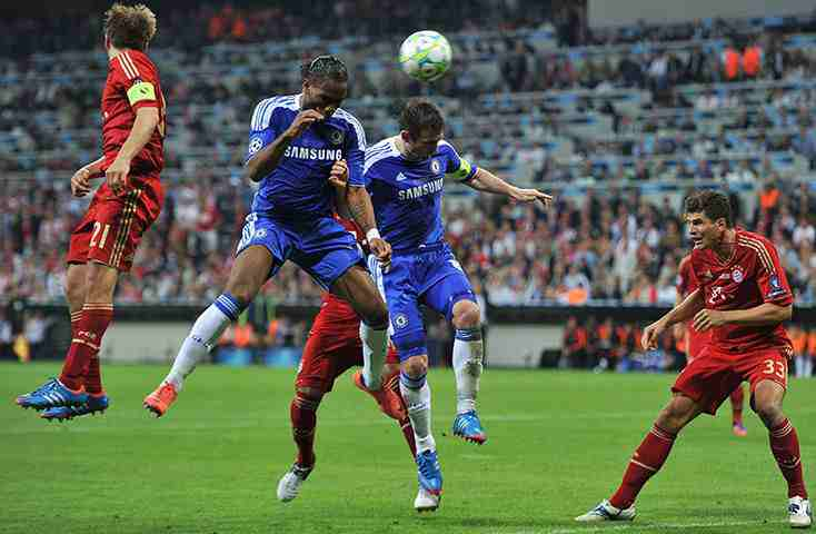 Drogba's header at 2012 Champions League Final against Bayern Munich - Znebs