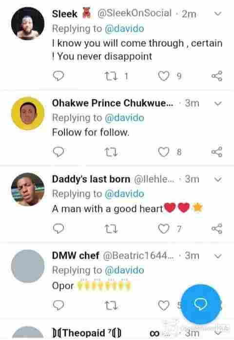 Twitter reaction as davido helps Cynthia Morgan - Znebs