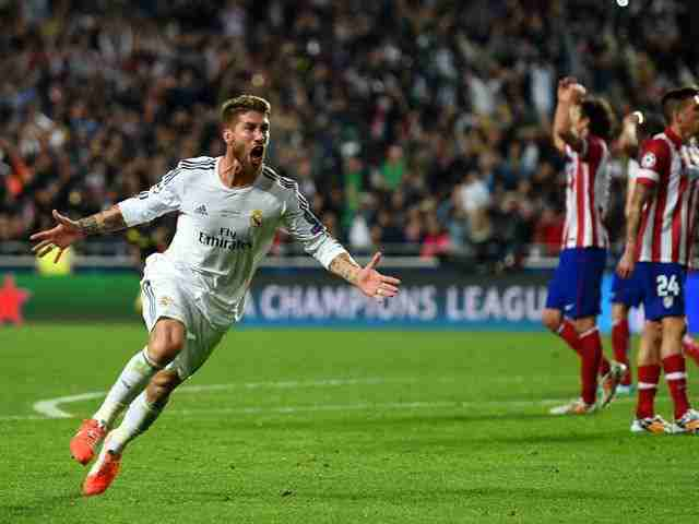 Sergio Ramos scores against Athletico Madrid in UEFA Champions League Final - Znebs